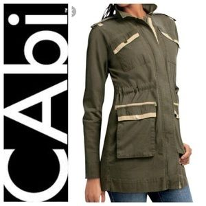 cabi Olive Green Anorak Military Jacket Size Small